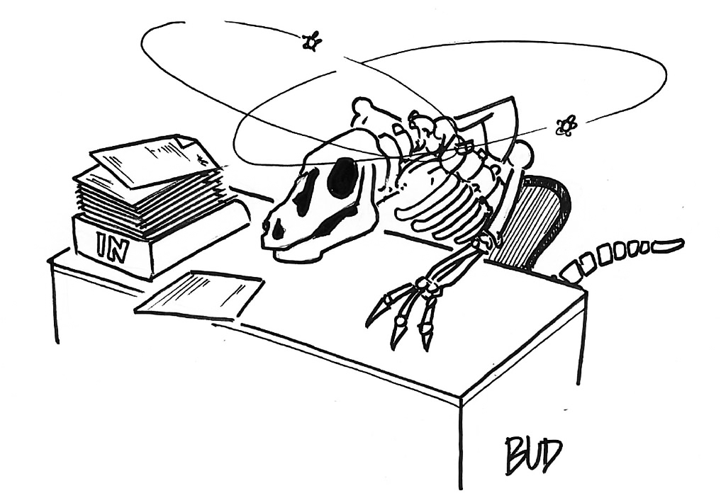 cartoon why office design not evolved