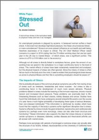 White Paper Workplace Stress