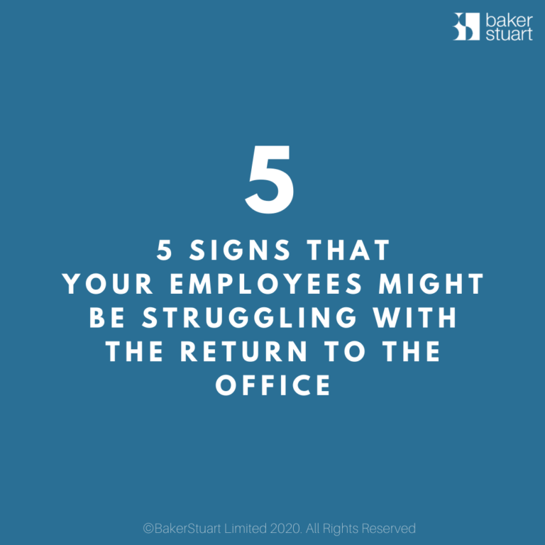 5 SIGNS return to work TITLE insta